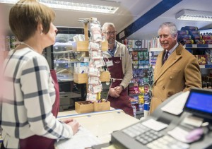HRH visits the community shop at the White Horse, Upton