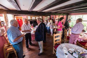 Royal Oak_guests in pop-up tea room