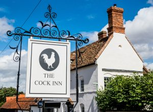The Cock Inn_pub sign with pub