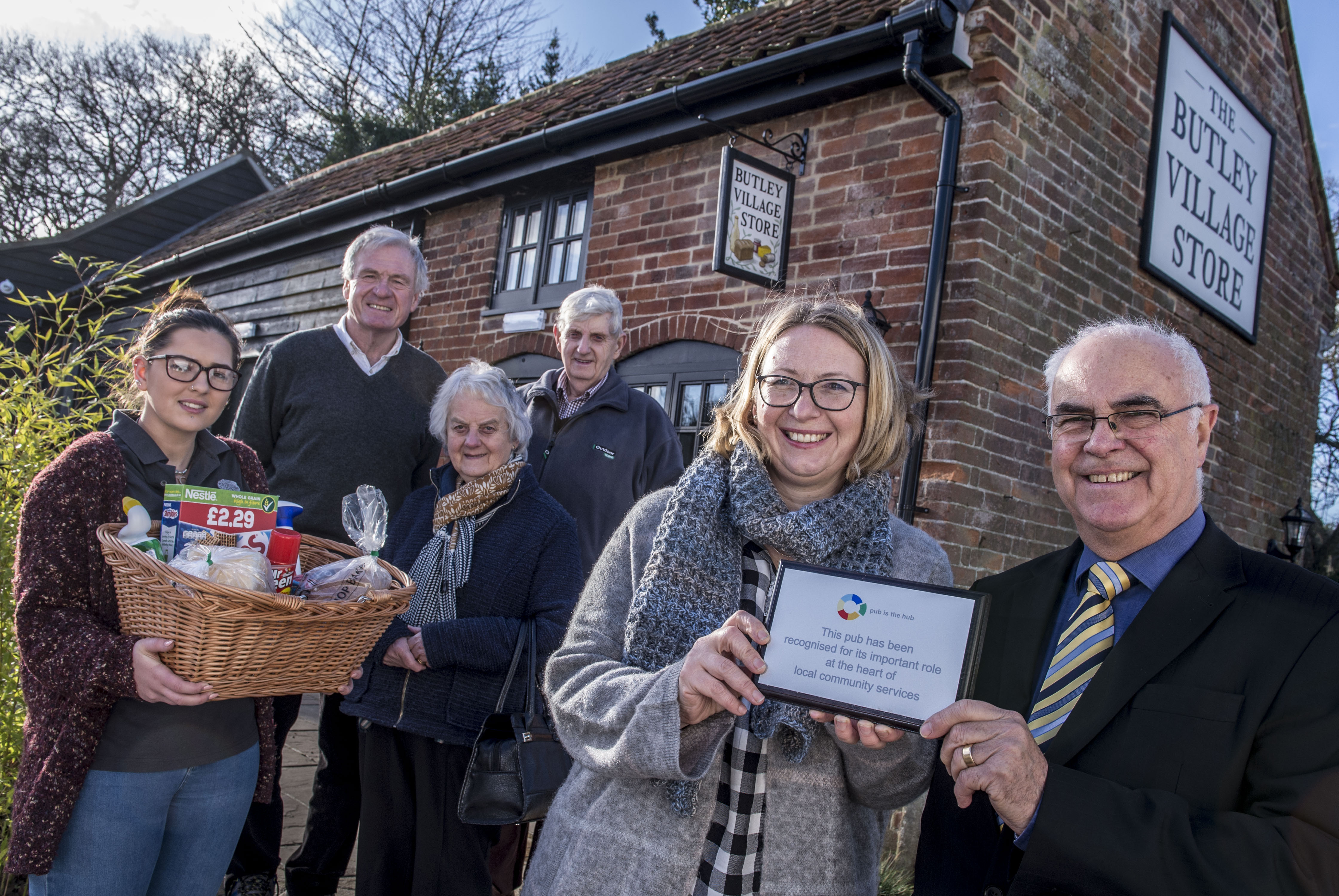 The grand opening of the Village Shop. Photo credit: Pub is the Hub